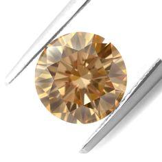 0.72 Cts Light Brown Loose Diamond Natural Color Round Cut Diamond