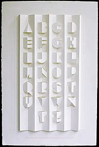 A pop-up alphabet poster with letters cut and creased on Waterford rag paper mounted onto a heavier version of the same stock. Kirigami, Typography Letters, Typography Design, Alphabet Fonts, Alphabet Letters, Pop Up Karten, Typographie Inspiration, Logos Retro, Plakat Design