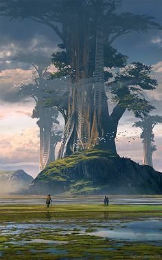 ArtStation - Tree Worlds, Raphael Lacoste