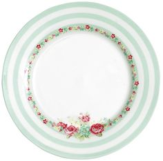 GreenGate Stoneware Plate Candy Mint D 20,5 cm
