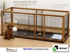 Dog Playpen - Indoor Dog Pen Expandable
