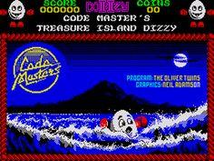 Title screen for Treasure Island Dizzy (ZX Spectrum) Old Computers, Old Games, Treasure Island, Gaming Computer, Best Memories, Childhood Memories, Spectrum, Over The Years, Growing Up