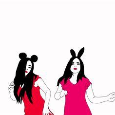 Residente en Chile, Xaviera López  es una ilustradora  y animadora  conocida en la red por sus gif´s que están ...