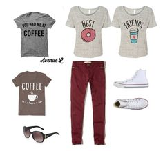 """""""Me and E"""" by zahra00762 on Polyvore featuring Hollister Co., LC Trendz, Converse and O Oscar"""