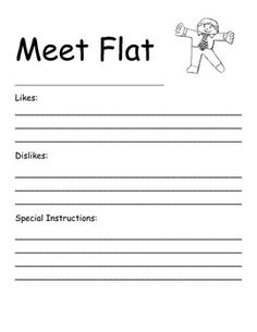 This is a form that I have my students fill out before sending out their Flatties. My creative students really get into their Flatties personalitie...