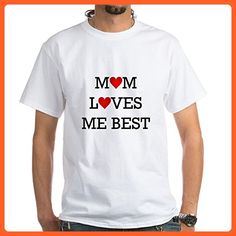 CafePress - Mom Loves Me Best T-Shirt - 100% Cotton T-Shirt, White - Relatives and family shirts (*Partner-Link)