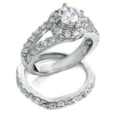 Sterling Silver wedding set CZ Round cut Engagement Ring size 5-9 Bridal New c07 #Sterling #Silver #wedding set #CZ Round cut #Engagement #Ring size 5-9 #Bridal #weddingset #weddingringset #ido