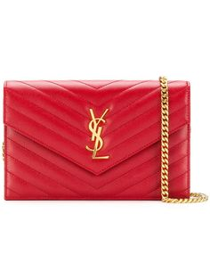 Chain Crossbody Bag, Leather Crossbody Bag, Sac Yves Saint Laurent, Red Clutch, Chain Shoulder Bag, Shoulder Bags, Wallet Chain, Red Leather, Saints