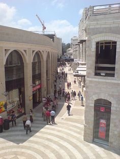 """Reason #65 candidate: Dine and Shop in the Mamilla """"Mall"""" at the gateway to the Old City of Jerusalem.  - Lisa T.  #65Reasons #JFNAGA"""