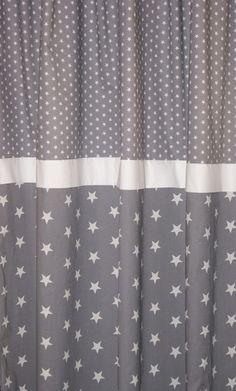 Vorhang sterne kinderzimmer  Vorhang, Sterne grau/weiß 135 x 250 cm von maru*maru - Kinder(t ...