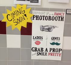 Photobooth for Yearbook; do for spirit week? Getting pictures of people during spirit week