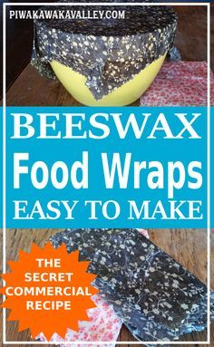 Eco friendly beeswax wraps replace seran wrap and plastic food wrap. - Health and wellness: What comes naturally Reusable Food Wrap, Reusable Bags, Diy Beeswax Wrap, Baking Center, Bees Wax Wraps, Pillos, Wrap Recipes, Freundlich, Jojoba Oil