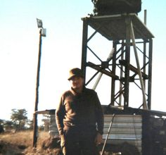 Cymbeline Mortar locating radar set on tower at Katima 1978.