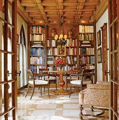 Jose Solis Betancourt - book filled breakfast room in Washington, D.C.