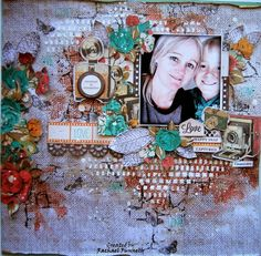 Another layout I created for Kaisercraft using their 3rd release for November CLOSE UP!