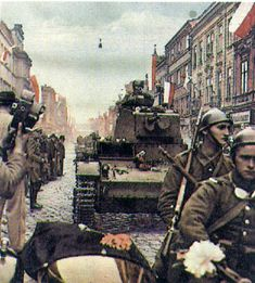 1938 - Polish light tank 7TP & motorcycle CWS 111 The 7TP was the Polish light tank of the Second World War. A development of the British Vi...