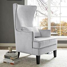 Mercer41 Stonehill Velvet Wingback Arm Chair Fabric: Silver Croc