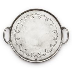 We love the vintage look of this pewter serving tray.   $215