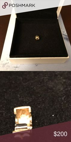 GORGEOUS AUTHENTIC 14k GOLD PANDORA HEART CLIP STUNNING AUTHENTIC 14k YELLOW GOLD PANDORA HEART CLIPEXCELLENT CONDITION!!.  NO LOW BALLING, I KNOW THE VALUE OF THE ITEMS I BUY AND SELL. NO RUDE COMMENTS!! Pandora Jewelry Bracelets