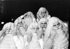 Famous photo by  Alfred Eisenstaedt, 1961 of Santa School.