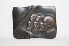 VintageDigger: Vintage Rare Square Bronze Medal PZPR Lenin Marks ...