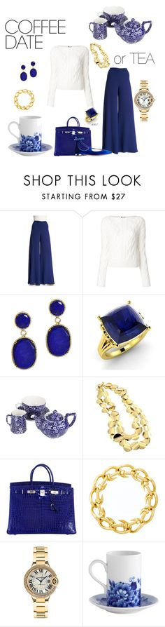 """Coffee or Tea date 2"" by meesh57 on Polyvore featuring Ralph Lauren, Lanvin, Dabakarov, Diamondere, Burleigh, Roberto Coin, Hermès, David Webb, Cartier and Vista Alegre"