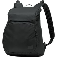 Pacsafe Citysafe Cs300 Anti-Theft Compact Backpack ($88) ❤ liked on Polyvore featuring bags, backpacks, black, fabric handbags, handbags, mesh backpack, laptop rucksack, colorblock backpack, day pack backpack and lightweight laptop bag
