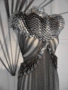 "sixpenceee: "" This is an Armored dress. Designer: Fannie Schiavoni.""  EVANGELINE SAMOS DRESS!!!"