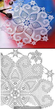 See More Pattern For Crochet Free Crochet Doily Patterns, Crochet Doily Diagram, Crochet Circles, Crochet Mandala, Crochet Art, Crochet Home, Thread Crochet, Crochet Motif, Vintage Crochet