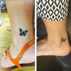 While counting down the days to her wedding, this daughter and her mom got these matching butterfly tattoos since they would no longer be sharing a