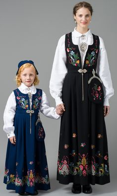 FolkCostume&Embroidery: Overview of Norwegian Costumes, part The eastern heartland Norwegian Clothing, Native Wears, Norwegian People, Costumes Around The World, Folk Costume, Ethnic Fashion, Traditional Dresses, How To Wear, Clothes