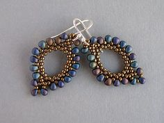 beaded earrings---love!