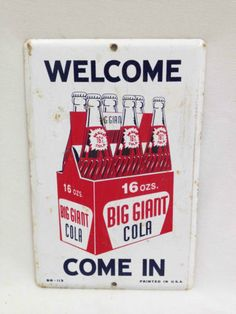 Welcome-Come-In-Big-Giant-Cola-Door-Push-Store-Sign