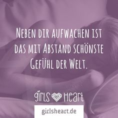 Mehr Sprüche auf: www.girlsheart.de  #aufwachen #aufstehen #schlafen #bett #liebe #partner #partnerschaft #gemeinsam #schlaf #morgen