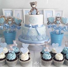 New baby shower ideas centerpieces for boys Ideas - .-New baby shower ideas centros de mesa para varon Ideas – New baby shower ideas centerpieces for boys Ideas – – - Teddy Bear Baby Shower, Baby Shower Cakes For Boys, Baby Shower Decorations For Boys, Boy Baby Shower Themes, Baby Shower Centerpieces, Baby Boy Shower, Men Shower, Baby Shower Azul, Shower Bebe