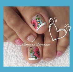 Nail Salon Design, Cute Nails, Pedicure, Lily, Ideas, Designed Nails, Pretty Nails, Pretty Toe Nails, Simple Toe Nails