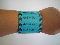 """Les bracelets """"Tables de multiplications"""""""