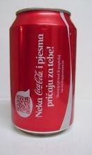"empty Coca Cola can / leere Dose - 2014 Limited ""Song Edition"" 330 ml (Croatia)"