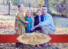 Christmas Photo Card- Holiday Photo Card - Printable Rustic Band Christmas Card on Etsy, $15.00