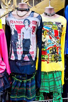Sex Pistols & Sid/Nancy shirts & plaid at the JimSinn shop on Takeshita Dori in Harajuku