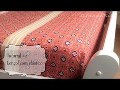 Tutorial de Costura: Como fazer um lençol com elástico para berço, cama de solteiro ou cama de casal - YouTube