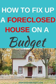 Are you a first time home buyer? Are you considering buying a foreclosure. Here are 5 tips to fix up a foreclosed house on a budget. Home Buying Tips, Buying Your First Home, Home Buying Process, Living On A Budget, Home Budget, Easy Budget, Buying Foreclosed Homes, Foreclosed Houses, Buying A Foreclosure