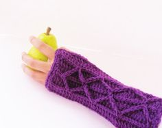 Adeline Fingerless Mitts or Arm Warmers, Easy Crochet Pattern with Faux Cables ( Free Pattern)