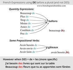 de vs des in French: http://www.frenchspanishonline.com/magazine/de-vs-des/