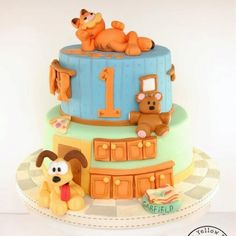 "Garfield Cake from ""The Yellow Bee Cake Company"""