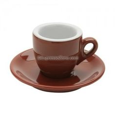 """These Nuova Point Palermo espresso cups feature traditional style with heavy-wall construction, perfect for your home cafe or commercial applications. Brown """"mocha"""" exterior with a pure white interior that allows your espresso to stand Cappuccino Recipe, Cappuccino Maker, Cappuccino Coffee, Cappuccino Machine, Latte Recipe, Espresso Recipes, Espresso Cups, Nespresso Machine, Coffee Blog"""
