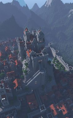 Artwork of castles, keeps, citadels and other fortified structures from the past, present, or future.