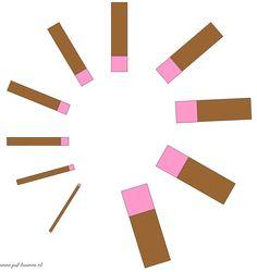 www.juf-lisanne.nl Montessori roze toren en bruine trap bouwvoorbeeld 2 / Montessori pink tower and broad stairs extension sheet 2
