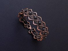 Wire weaving , braiding , wrapping handmaded copper women , men unisex bracelet with hematite gemstones. Can be made with any other gemstones on request , or as a personalized bracelet with your birth stones . Please leave your desired wrist size at checkout . Please feel free to contact