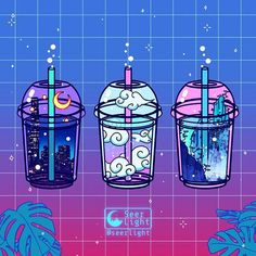 'Magic Boba' ✨🥛🍵✨ One drink a day keeps the anxiety and depression away. 🌙 I animated an old doodle since I've been too busy with… Aesthetic Drawing, Aesthetic Anime, Aesthetic Art, Arte Do Kawaii, Kawaii Art, Arte Copic, Arte 8 Bits, Tableau Pop Art, Japon Illustration